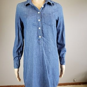 J.Crew Denim Blue  Shirt Dress